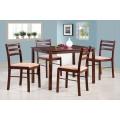 Комплект MK-5300-ES 1 стол + 4 стула с мягким сиденьем
